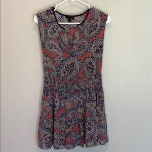 J crew paisley sleeveless dress